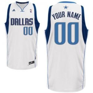 Maillot Dallas Mavericks NBA Home Blanc - Personnalisé Swingman - Homme