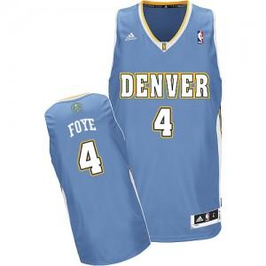 Denver Nuggets #4 Adidas Road Bleu clair Swingman Maillot d'équipe de NBA vente en ligne - Randy Foye pour Homme