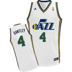 Utah Jazz Adrian Dantley #4 Home Swingman Maillot d'équipe de NBA - Blanc pour Homme